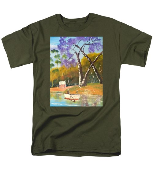 Men's T-Shirt  (Regular Fit) featuring the painting Jacaranda Tree by Pamela  Meredith