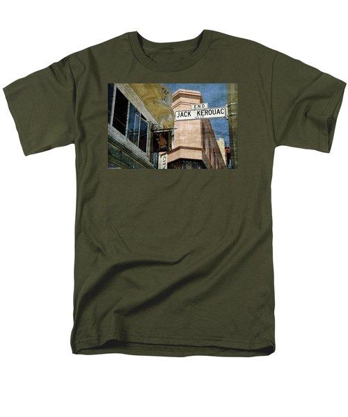 Jack Kerouac Alley And Vesuvio Pub Men's T-Shirt  (Regular Fit) by RicardMN Photography