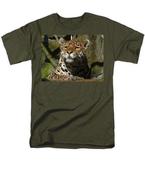 Jaguar Men's T-Shirt  (Regular Fit) by Phil Banks