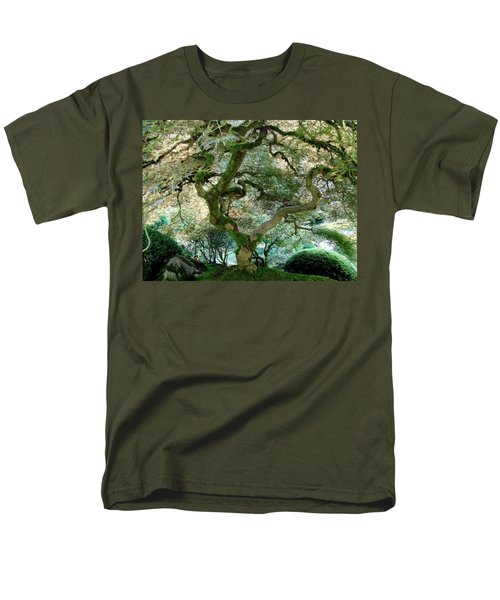 Men's T-Shirt  (Regular Fit) featuring the photograph Japanese Maple Tree II by Athena Mckinzie