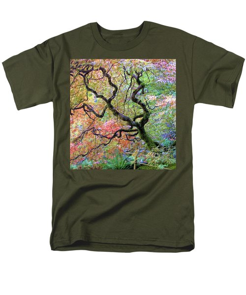 Men's T-Shirt  (Regular Fit) featuring the photograph Japanese Maple by Wendy McKennon