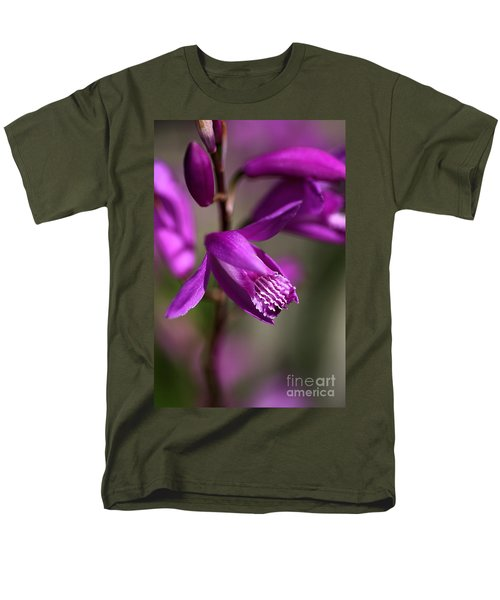 Men's T-Shirt  (Regular Fit) featuring the photograph Japanese Orchid by Joy Watson