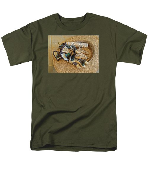 Men's T-Shirt  (Regular Fit) featuring the photograph Jean's Butterflies by Larry Bishop
