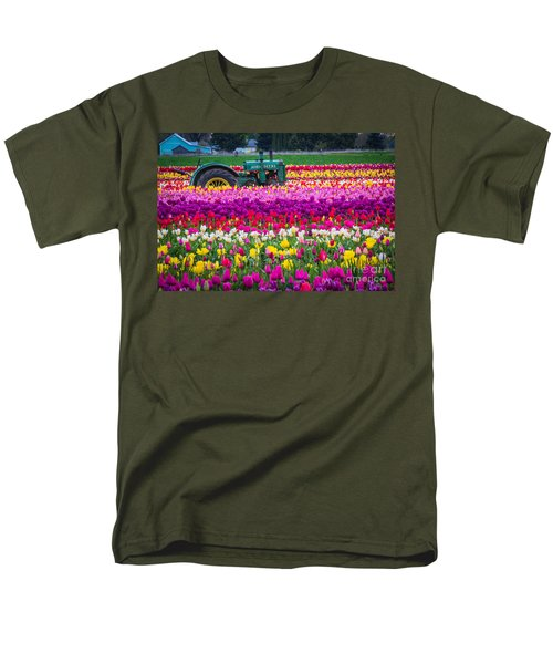 John Deere In Spring Men's T-Shirt  (Regular Fit) by Patricia Babbitt