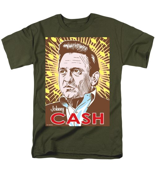 Johnny Cash Pop Art Men's T-Shirt  (Regular Fit) by Jim Zahniser