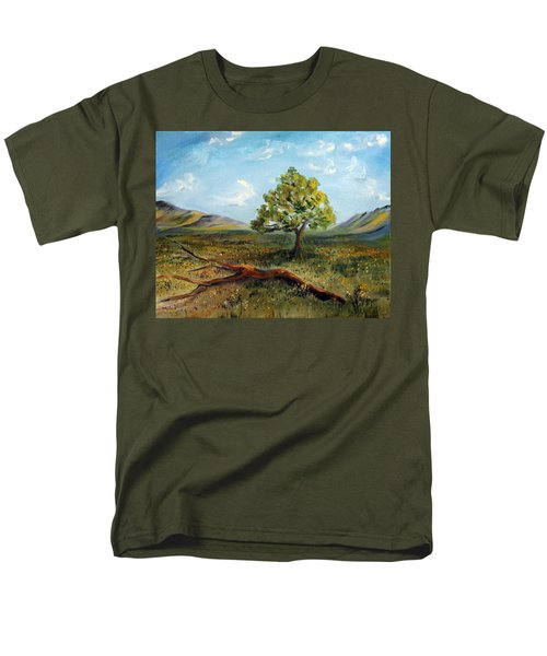Men's T-Shirt  (Regular Fit) featuring the painting Jubilant Fields by Meaghan Troup
