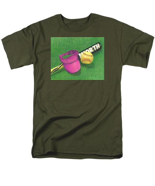 Men's T-Shirt  (Regular Fit) featuring the drawing Julia's Game by Troy Levesque