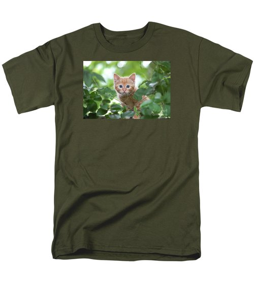 Jungle Kitty Men's T-Shirt  (Regular Fit) by Debbie Green