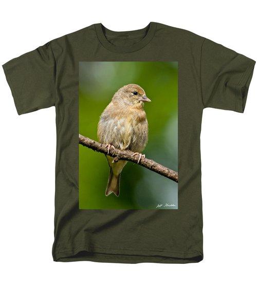 Juvenile American Goldfinch Men's T-Shirt  (Regular Fit) by Jeff Goulden