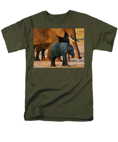 Men's T-Shirt  (Regular Fit) featuring the photograph Kalahari Elephants by Amanda Stadther