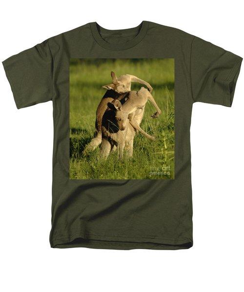 Kangaroos Taking A Bow Men's T-Shirt  (Regular Fit) by Bob Christopher