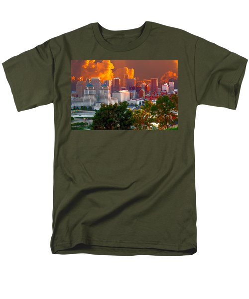 Katrina Storm Hits Cincinnati Men's T-Shirt  (Regular Fit) by Randall Branham