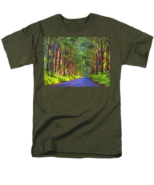 Kauai Tree Tunnel Men's T-Shirt  (Regular Fit) by Dominic Piperata