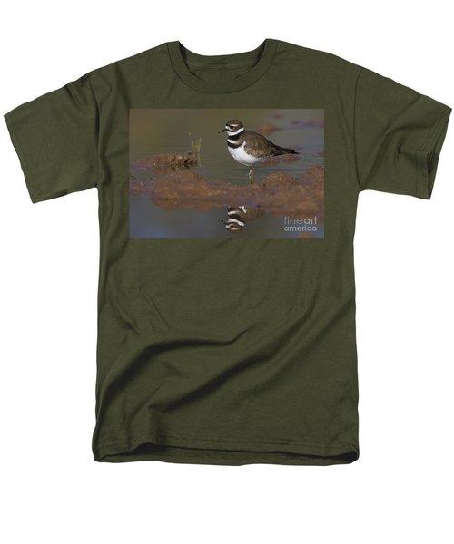 Men's T-Shirt  (Regular Fit) featuring the photograph Killdeer Reflection by Bryan Keil