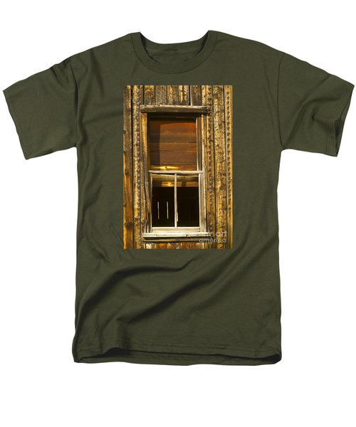 Men's T-Shirt  (Regular Fit) featuring the photograph Kirwin Window-signed-#0223 by J L Woody Wooden