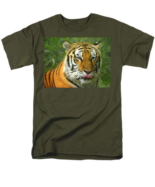 Men's T-Shirt  (Regular Fit) featuring the photograph Kisa Painted by Sandi OReilly