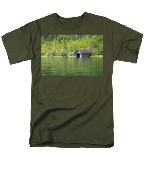 Men's T-Shirt  (Regular Fit) featuring the photograph Konigsee Boathouse by Jeremy Voisey