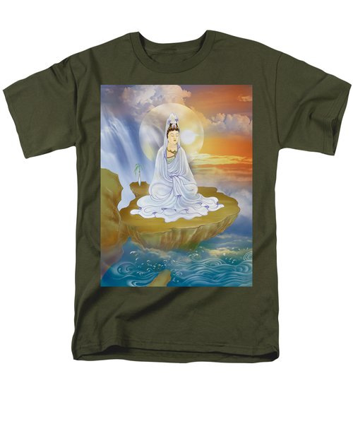 Men's T-Shirt  (Regular Fit) featuring the photograph Kwan Yin - Goddess Of Compassion by Lanjee Chee