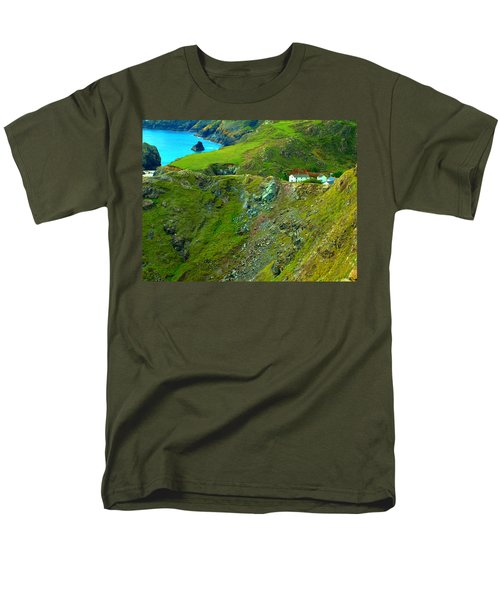 Men's T-Shirt  (Regular Fit) featuring the photograph Kynance Cove by Rachel Mirror