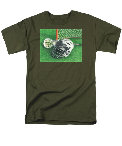 Men's T-Shirt  (Regular Fit) featuring the drawing Lacrosse by Troy Levesque