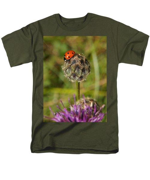 Ladybird Men's T-Shirt  (Regular Fit) by Ron Harpham