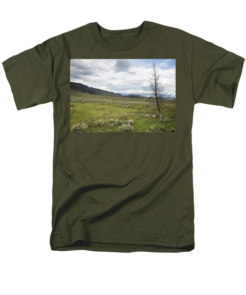 Men's T-Shirt  (Regular Fit) featuring the photograph Lamar Valley No. 1 by Belinda Greb