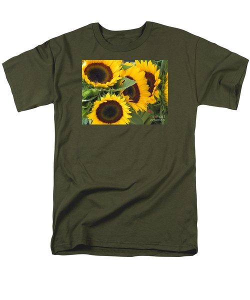 Large Sunflowers Men's T-Shirt  (Regular Fit) by Chrisann Ellis