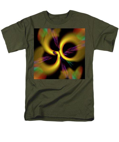 Laser Lights Abstract Men's T-Shirt  (Regular Fit) by Carolyn Marshall
