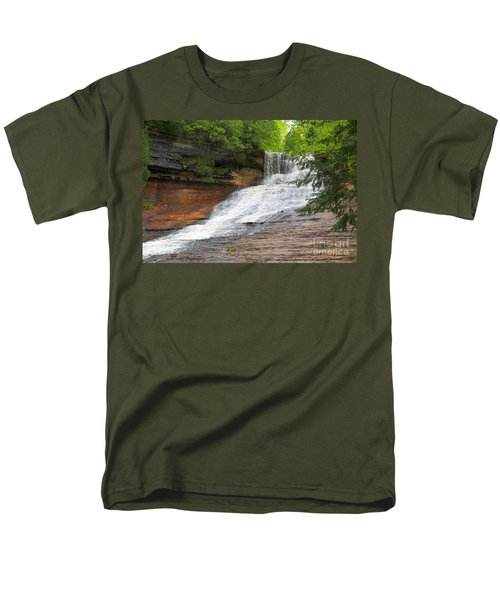 Men's T-Shirt  (Regular Fit) featuring the photograph Laughing Whitefish Waterfall by Terri Gostola