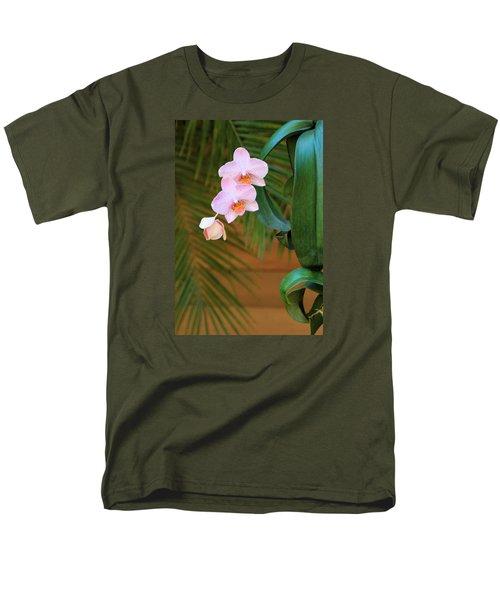Men's T-Shirt  (Regular Fit) featuring the photograph Lavender Dendrobium Orchids by Rosalie Scanlon