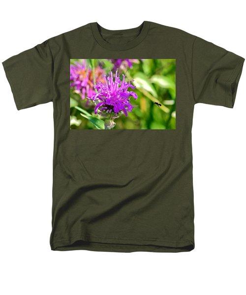 Men's T-Shirt  (Regular Fit) featuring the photograph Lavender Pink Bee Balm Wild Bergamot by Karon Melillo DeVega