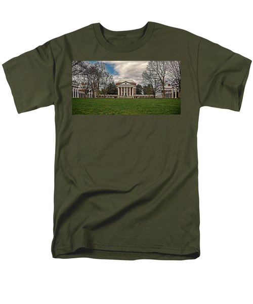 Lawn And Rotunda At University Of Virginia Men's T-Shirt  (Regular Fit) by Jerry Gammon