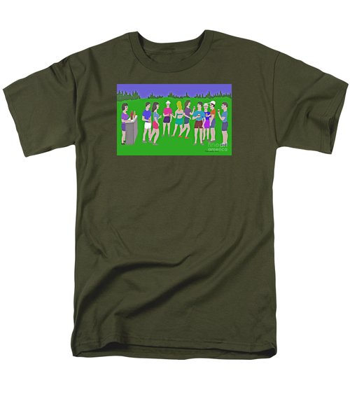 Lawn Party  Men's T-Shirt  (Regular Fit) by Fred Jinkins
