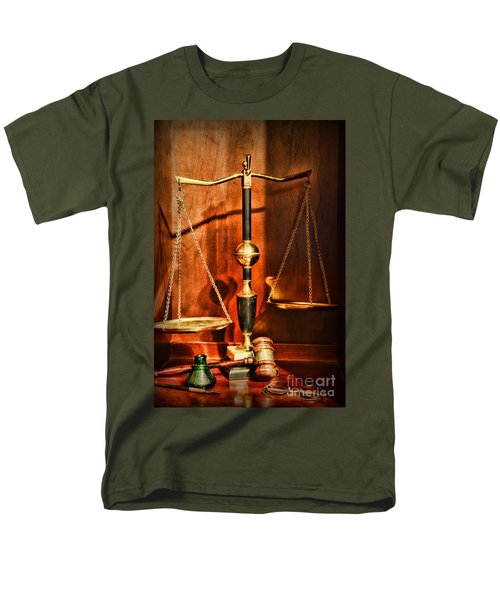 Lawyer - Scales Of Justice Men's T-Shirt  (Regular Fit) by Paul Ward