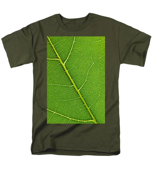 Men's T-Shirt  (Regular Fit) featuring the photograph Leaf Detail by Carsten Reisinger