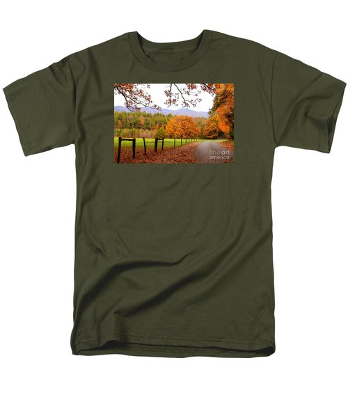 Men's T-Shirt  (Regular Fit) featuring the photograph Leaves A'fallin by Geraldine DeBoer