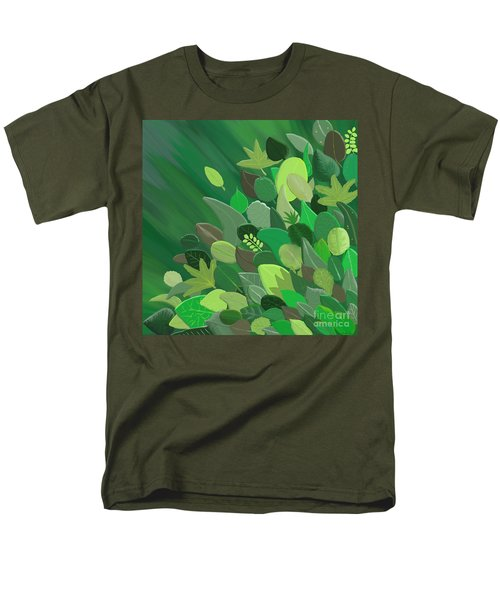 Leaves Are Awesome Men's T-Shirt  (Regular Fit) by Linda Lees
