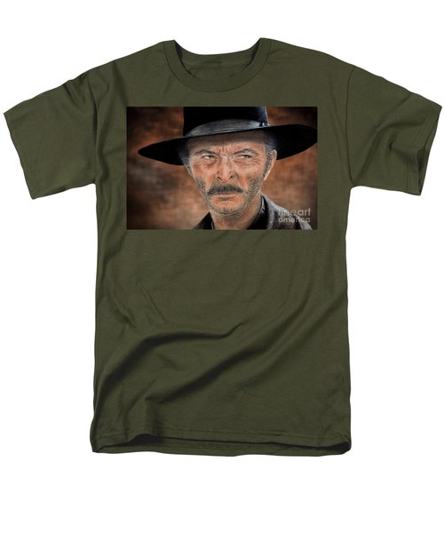 Lee Van Cleef As Angel Eyes In The Good The Bad And The Ugly Version II Men's T-Shirt  (Regular Fit) by Jim Fitzpatrick