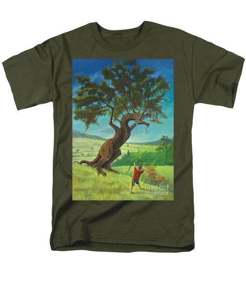 Men's T-Shirt  (Regular Fit) featuring the painting Legendary Archer by Rob Corsetti