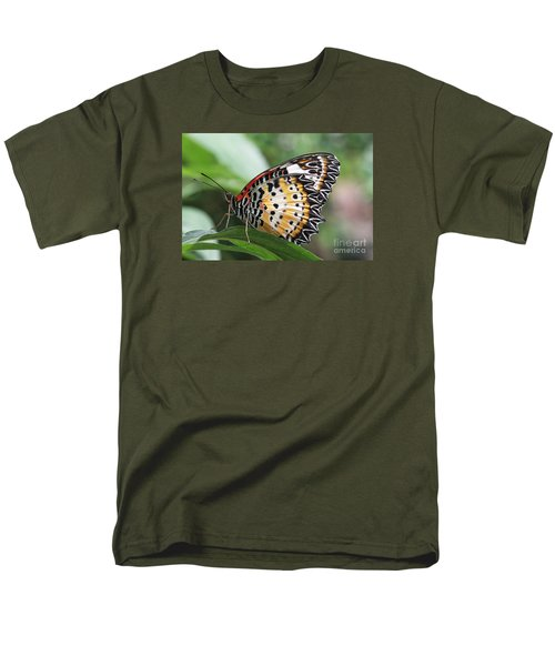 Leopard Lacewing Butterfly Men's T-Shirt  (Regular Fit) by Judy Whitton