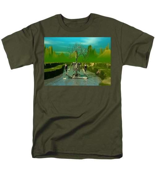 Men's T-Shirt  (Regular Fit) featuring the digital art Life Death And The River Of Time by John Alexander