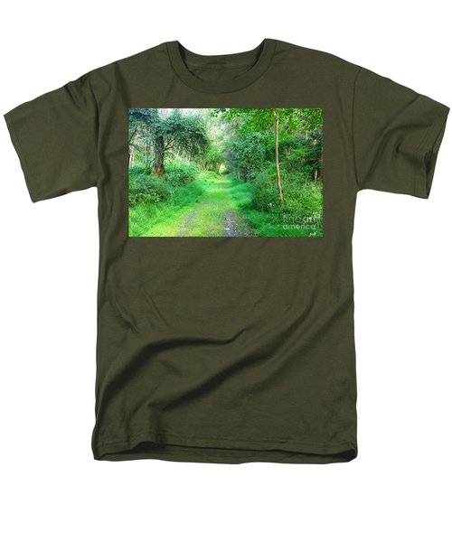Men's T-Shirt  (Regular Fit) featuring the photograph Light At The End Of The Tunnel by Becky Lupe
