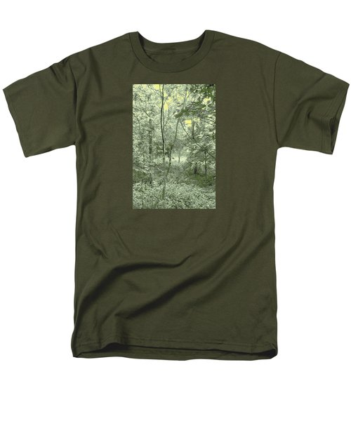 Men's T-Shirt  (Regular Fit) featuring the photograph Light Forest Scene by Tom Wurl