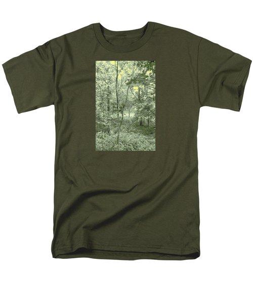 Light Forest Scene Men's T-Shirt  (Regular Fit) by Tom Wurl