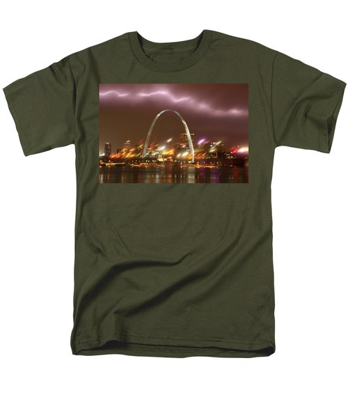 Lightning Over The Arch Men's T-Shirt  (Regular Fit) by Garry McMichael