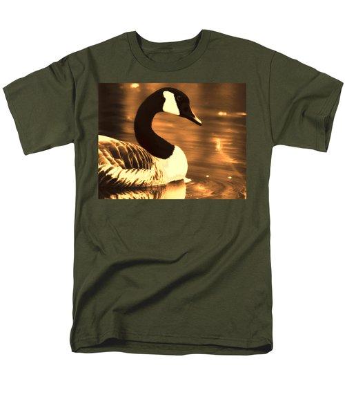 Lila Goose The Pond Queen Sepia Men's T-Shirt  (Regular Fit) by Lesa Fine