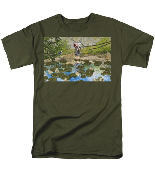 Lilly Pad Lane Men's T-Shirt  (Regular Fit) by Liane Wright