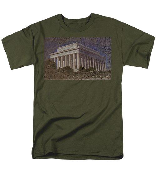 Lincoln Memorial Men's T-Shirt  (Regular Fit) by Skip Willits
