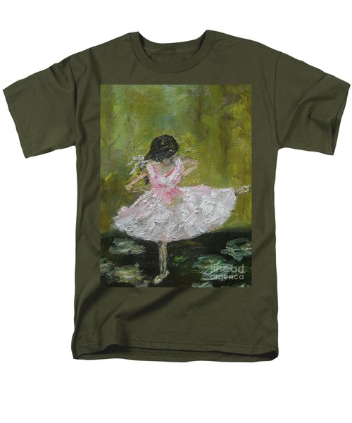 Men's T-Shirt  (Regular Fit) featuring the painting Little Dansarina by Reina Resto