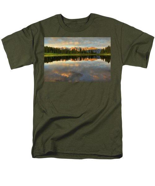 Little Molas Lake At Sunset Men's T-Shirt  (Regular Fit) by Alan Vance Ley